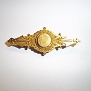 Circa 1890 15 Ct Yellow Gold Aesthetic Style Brooch, 2.2 g