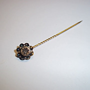 Circa 1900 9ct Gold 0.02 Ct Diamond Tie / Stick Pin