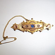9 Ct Gold & 0.02 CTW Diamond Aesthetic Style Brooch, Chester 1915