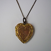 9ct Gold Heart Locket With A Chain
