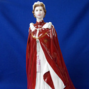 A Royal Worcester Figure In Celebration of the Queen's 80th Birthday, 2006