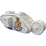 Shelley Crested China Of Early WWI Model Of British Female Tank, Sunderland