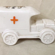 "Victoria Crested China WW1 Red Cross Van - ""Liverpool"" Crest"