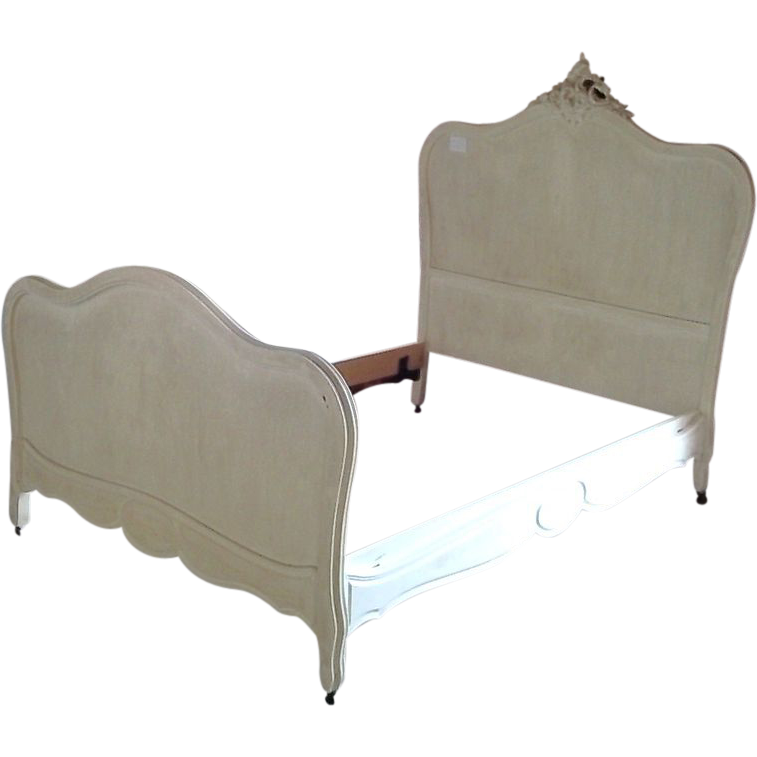 French Late 19th Century Walnut Louis XVI Style Double Bed from ...