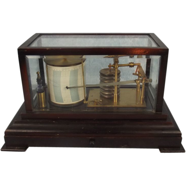 Light Shop Liverpool Road Ainsdale: Cased Barograph By Sewills Of Liverpool From