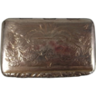 Georgian Sterling Silver Snuff Box Hallmarked For Birmingham 1829 by Joseph Willmore