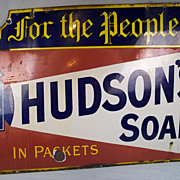 Hudsons Soap c1912-20 Enamel Advertisement