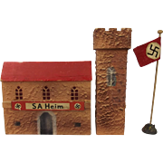 Un-confirmed Maker, SA Heim (SA House) With Two Elastolin SA Figures, c.1934