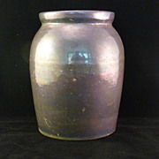 SALE Vintage Iridescent Oyster or Pickle Crock