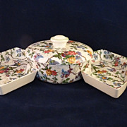 SALE Staffordshire Midwinter Bowl & Sides Lorna Doone Pattern