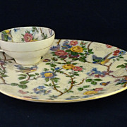 Royal Staffordshire Clarice Cliff Lunch Set Lorna Doone Pattern
