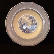 SALE Antique Cintra J. H. Flow Blue Bowl