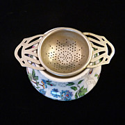SALE Midwinter Chintz Pottery Tea Strainer Holder Lorna Doone Pattern