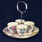 SALE Chintz Egg Cups Lorna Doone Pattern