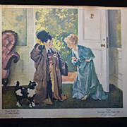 "SALE Vintage Haddon Sundblom ""Playing Realsilk Man"" Print"