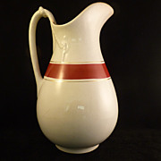 SALE Large Vintage Ironstone China Pitcher