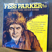 Vintage 1969 Fess Parker Cowboy and Indian Songs LP Record Vinyl Album Factory Sealed