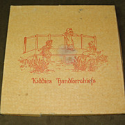 Vintage Kiddies Handkerchiefs with Embroidered Dogs in Original Box