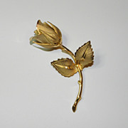 Vintage Giovanni Christmas Rose Brooch Pin