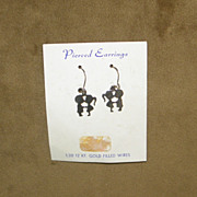 Vintage 1970's Kissing Kids Silhouette Pierced Earrings