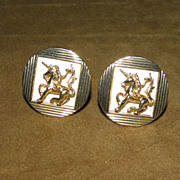 Vintage Swank Unicorn Big Cufflinks