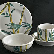 SALE Tepco China Bamboo 23 Piece Restaurant Set