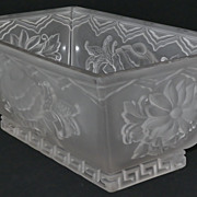 SALE Verlys Glass Chrysanthemum Casket Window Box