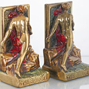 SALE Armor Electro-Form Bronze Clad �The Builder� Bookends