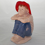 SALE Hull Gem Co Barefoot Boy Cookie Jar
