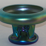 SOLD Steuben Carder Period Blue Aurene Pillar Vase � Atomic Cloud