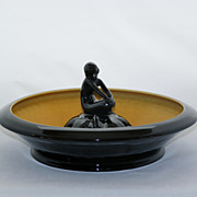 SALE 1922 Rookwood Art Pottery Deco Bowl with Nymph Flower Frog