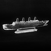 SALE Waterford Irish Crystal Titanic Ship Model