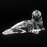 SALE Waterford Irish Crystal Cut Glass Seal / Sea Lion