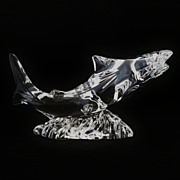 SALE Waterford Irish Crystal Shark