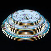 SOLD 11 Mixed Lenox China Blue Tree Dinner, Salad and Bread Plates