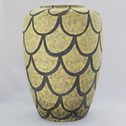 SALE West German Fat Lava Fish Scale Pottery Vase