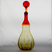 SOLD Stupid Rare Blenko 6936 Joel Philip Myers Optic Rib Decanter