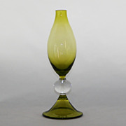 SALE Pee Dee Empoli Toscany Olive Green Bud Vase