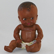 SALE AMoDAndRa Sun Rubber Black Baby Doll Ruth E Newton