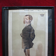 SALE Antique Framed Vanity Fair Magazine Page - The Earl of Galloway