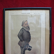 SALE Antique Framed Vanity Fair Statesmen Page - Mr. Alexander J Beresford-Hore