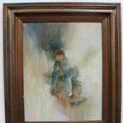"SALE Listed Artist Fred Money aka Raoul Billon (1882-1956) Signed Framed Oil on Canvas ""B"