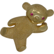 14K Yellow Gold Teddy Bear Pin