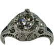 Platinum Diamond Art Deco Engagement Ring Vintage 1930's