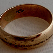 SALE Antique Ostby Barton Gold Shell Wedding Band Rare Eagle Mark
