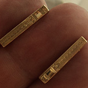 Antique Ballou 10K Yellow Gold Lingerie Pins Pair