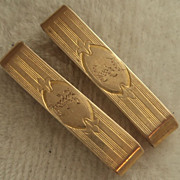 Very Rare Ostby & Barton 10K Yellow Gold Pair Barrettes