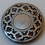 SALE 900 Silver Overlay South American Belt Buckle