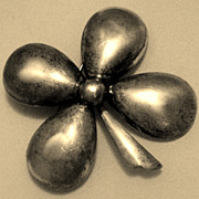 SALE Danecraft Sterling Silver Huge 4-Leaf Clover Brooch Pin