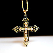 Orthodox Style Diamond Cross